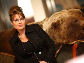Alaska governor Sarah Palin in her office on Dec. 6, 2007. Less than a year later, Palin would be picked as the Republican vice-presidential nominee.