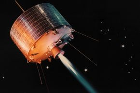 World's first geosynchronous satellite, Syncom I