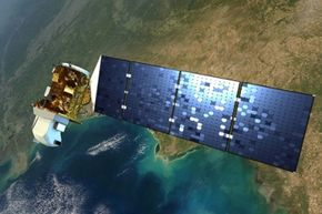 In this artist's interpretation, Landsat checks out the eye-catching view below.