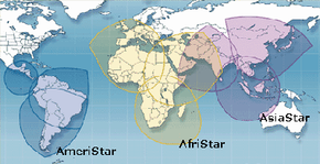1worldspace will be able to broadcast to the majority of the world's population when its AmeriStar satellite is launched.