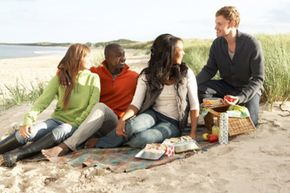 Beaches are great for inexpensive road-trip fun.