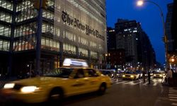 The offices of The New York Times, on New York City's Eighth Avenue.