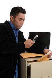 When taking pictures of documents to scan or fax, remember don't use a flash.