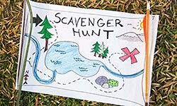 A map can make a scavenger hunt even more fun.
