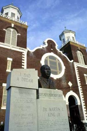 Brown Chapel is commemorated as the starting point for the historic 1965 march for voting rights.