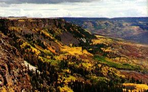 Byways.org The Grand Mesa is the world's tallest flat-top mountain.