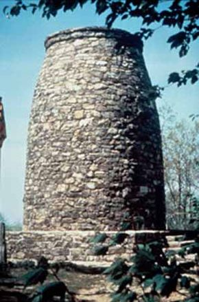 The first monument built in honor of George Washington stands along Historic National Road.
