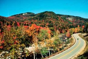 Fall foliage is lush along the Kankamagus Scenic Byway.