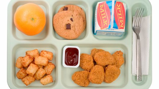 Who decides what goes into school lunches?