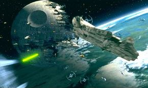When the Death Star II exploded, the sound was tremendous.
