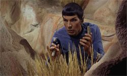 Spock lays low with his phaser, perhaps one of the most well-known weapons in science fiction. See our collection of essential gadget pictures.