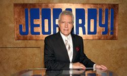 """First """"Jeopardy!"""" host Alex Trebek lost his awesome moustache. Then a machine destroyed all humans on his show. These are dark days."""