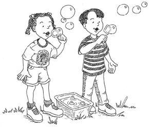 ©2007 Publications International, Ltd.                              Try blowing soap bubble shapes.