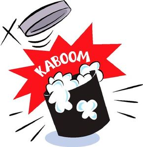 Adding vinegar to baking soda in a film canister will create a noisy chemical popper.