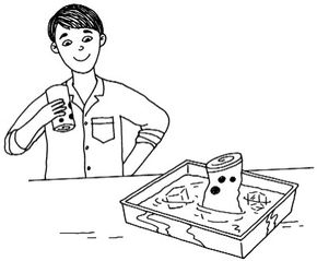 ©2007 Publications International, Ltd.                              Crush a can with air pressure.