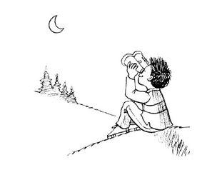 Use binoculars to study the moon.