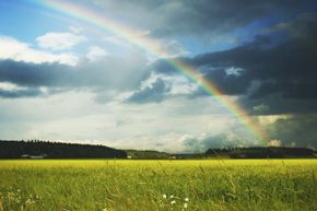Seeing these blue skies, bright sun and rainbow might make you think of a whole bunch of science questions you can't answer right now. Read on for the solutions.