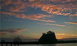 Sunset at La Push beach on the Olympic Coast