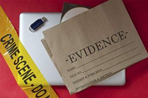 You might find proof at a crime scene, but you won't in a science lab.