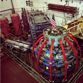 The National Spherical Torus Experiment fusion reactor at the Princeton University Plasma Physics Laboratory.