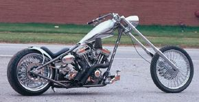 The Scooters Shooterz is a custom chopper with an aggressive stance. See more motorcycle pictures.