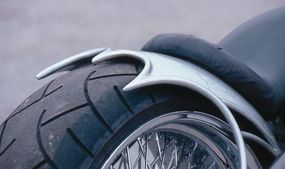 """Sculpted rear fender is """"classic"""" only in terms of radical choppers."""