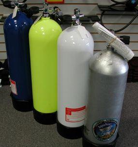 Scuba gas cylinders