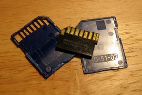 What's on the inside? This is a look inside a 2 GB standard SD card by SanDisk.