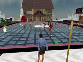 This popular dance club shows a variety of residents in Second Life's population.