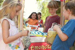 A lemonade stand requires math skills, money recognition and independence.
