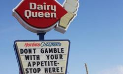 Should you gamble on an unlisted item still being available at Dairy Queen?