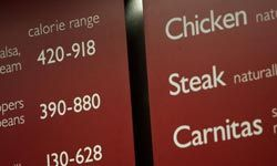 Some states now require calorie counts on the menu -- but you won't find the quesorito anywhere.