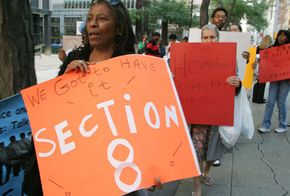 Section 8 protest in New York City
