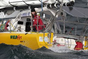 Abby Sunderland on her yacht in South Africa in 2010, as part of her bid to be the youngest person to sail solo around the world. A few weeks later, she was rescued after her boat got damaged in the Indian Ocean. Technology helped save her life.
