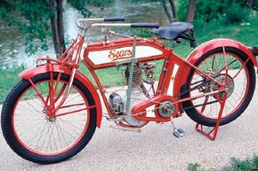 """Image Gallery: Motorcycles This 1914 Magneto Model, complete with the 35-cubic-inch Deluxe """"Big Five"""" engine, sold for $197.50 in the Sears & Roebuck Catalog. See more pictures of motorcycles."""