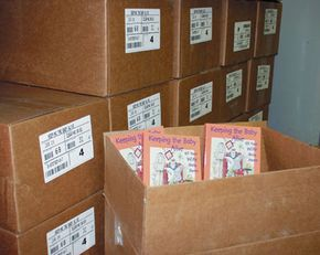 When your books come off the press, the printer will box them up and ship them to you.