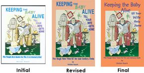 Roark went through several possible cover treatments on his first book before settling on one that felt right.