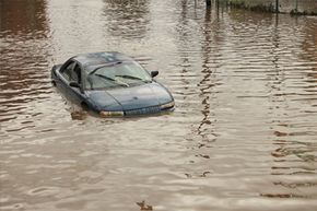 Insurance companies are quick to write off a car with water damage because the body and other metal parts eventually will start to rust.