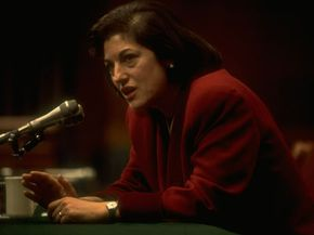 Zoë Baird during her confirmation hearing in January 1993.