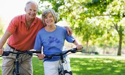 Many of today's seniors are likely to exercise, eat fresh veggies from their gardens and text the grandkids new pictures. See more healthy aging pictures.