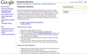 Google's Webmaster Help Center gives tips on credible SEO techniques to boost your site's page rank.