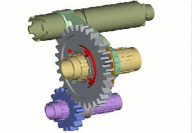 Animation of six-speed sequential transmission
