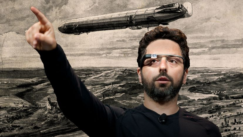 The tech world is aflutter with rumors that Google co-founder Sergey Brin is working on a private dirigible airship. Universal History Archive/Kim Kulish/Getty Images