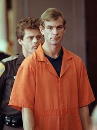 Jeffrey Dahmer at his trial in 1991. He killed at least 17 men and boys.