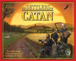 Cover art indicates that Catan settlers are rather grubby.