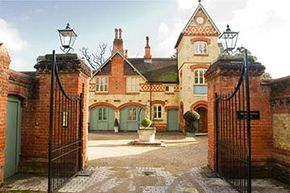 This stately home in England is available for rent through Airbnb.