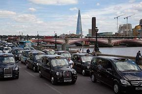 Black taxi drivers protesting against taxi service app Uber brought central London to a standstill in June 2014.  Ironically, the strike caused an eight-fold increase in the number of people using Uber that day.