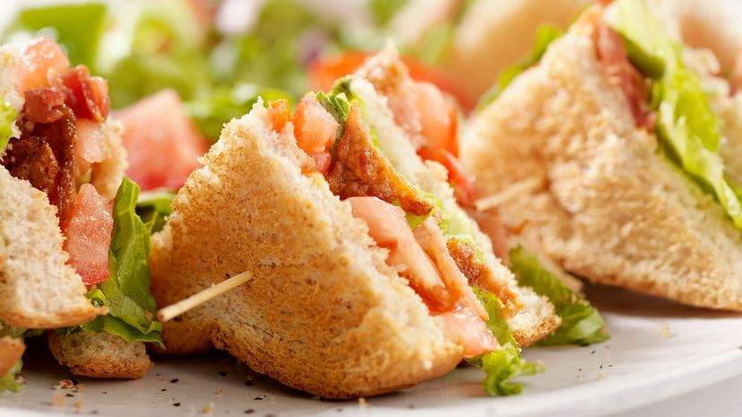 sandwich with toothpick
