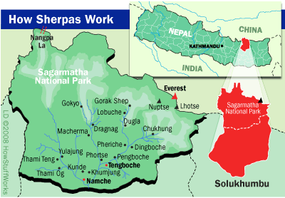 Sherpas migrated from Tibet through the Nangpa La pass in the 1500s and settled in the Solukhumbu region of Nepal.