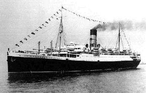 The Lancastria at sea